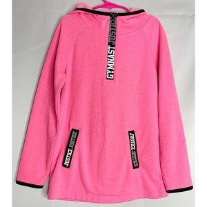 Justice pink gymnast hoodie 8
